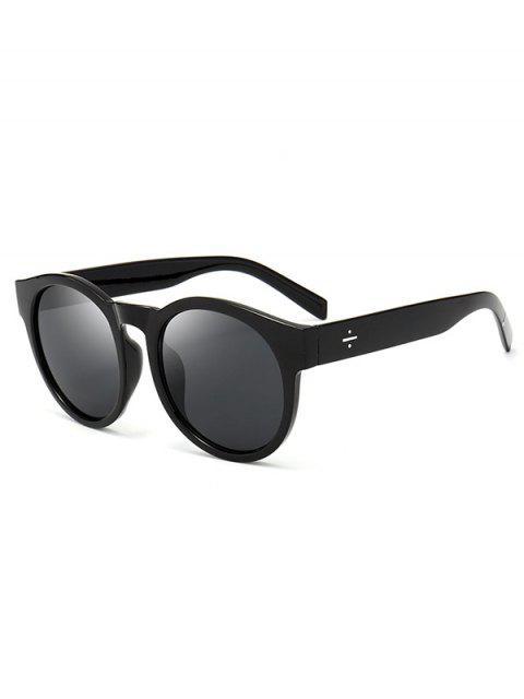 buy UV Protection Cat Eye Round Sunglasses - DOUBLE BLACK  Mobile