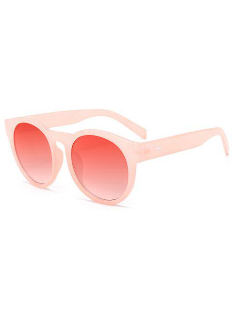 women's UV Protection Cat Eye Round Sunglasses - WATERMELON RED  Mobile