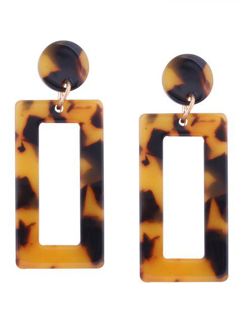 shops Resin Simple Geometric Earrings - YELLOW  Mobile