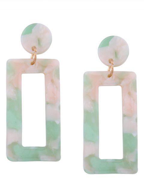 trendy Resin Simple Geometric Earrings - GREEN  Mobile