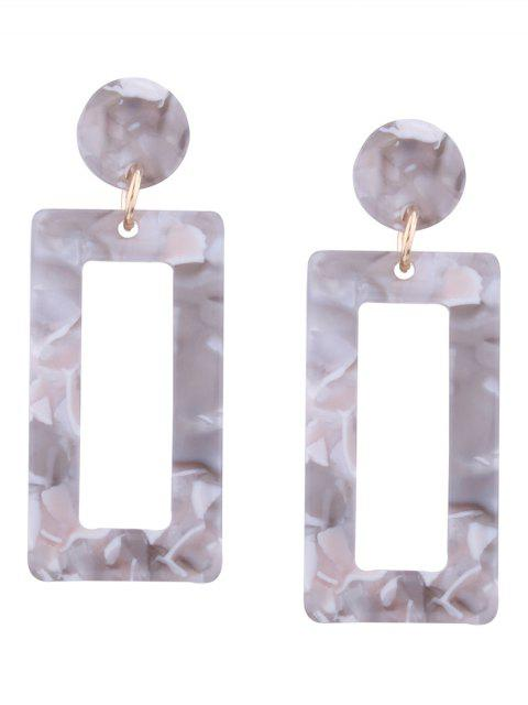 chic Resin Simple Geometric Earrings - GREY AND WHITE  Mobile