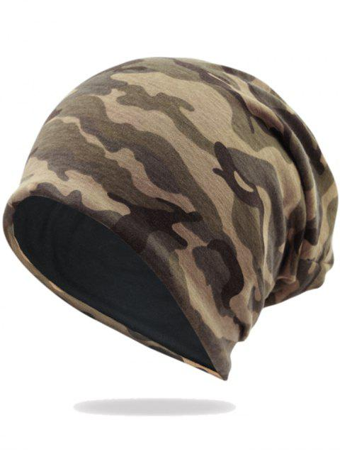 affordable Outdoor Camo Pattern Embellished Lightweight Beanie -   Mobile