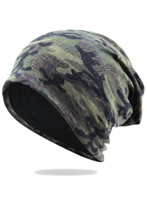 women Outdoor Camo Pattern Embellished Lightweight Beanie -   Mobile