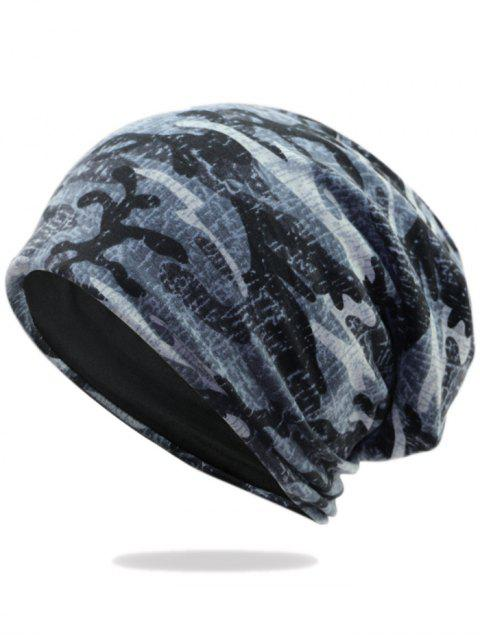 lady Outdoor Camo Pattern Embellished Lightweight Beanie - PATTERN I  Mobile