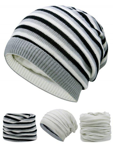 outfit Ponytail Hole Embellished Reversible Crochet Knitted Beanie - OFF-WHITE  Mobile
