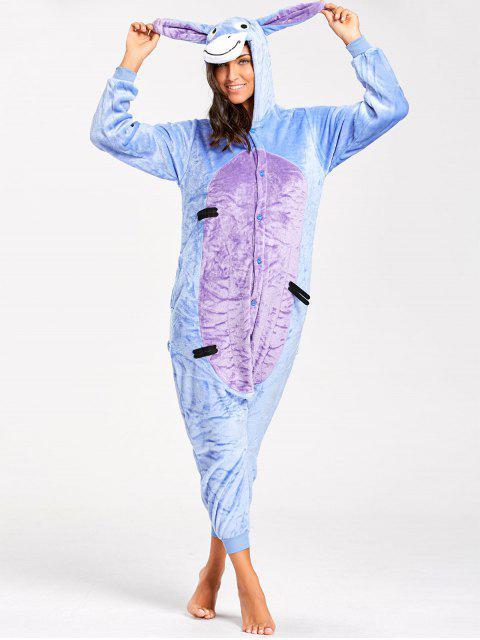 Pyjamas Une Pièce Animal âne Amusant pour Adulte - Bleu XL Mobile