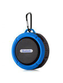 ماء اللاسلكية البسيطة في الهواء الطلق بلوتوث المتكلم - أزرق 9 * 9 * 5cm