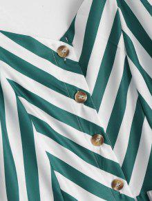 ... Button Up Striped Cami Dress. hot Button Up Striped Cami Dress - BLACKISH  GREEN M f3900262a