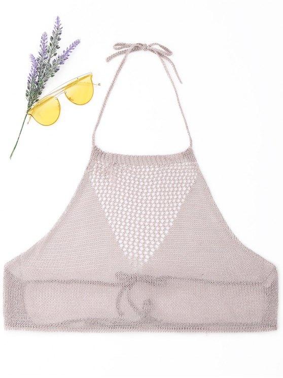 Shiny Crochet Cover-up - Color de Raíz de Loto   Única Talla