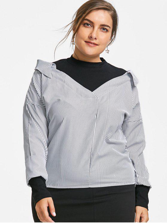 Rayas Es En RayaZaful Size 26Off2019 Plus Blusa XN80wkOPn