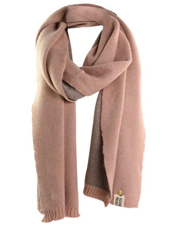 outfits Pineapple and Letter Embellished Artificial Wool Shawl Scarf - PINK ONE SIZE