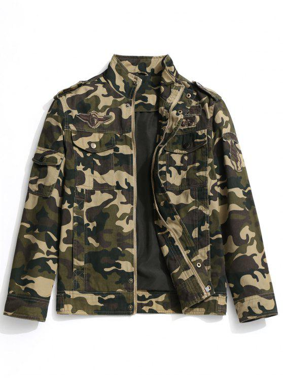 chic Camo Field Jacket - CAMOUFLAGE 2XL