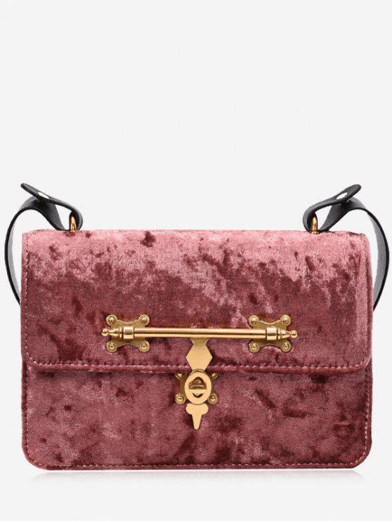 shop Metal Embellishment Crossbody Bag - PINK