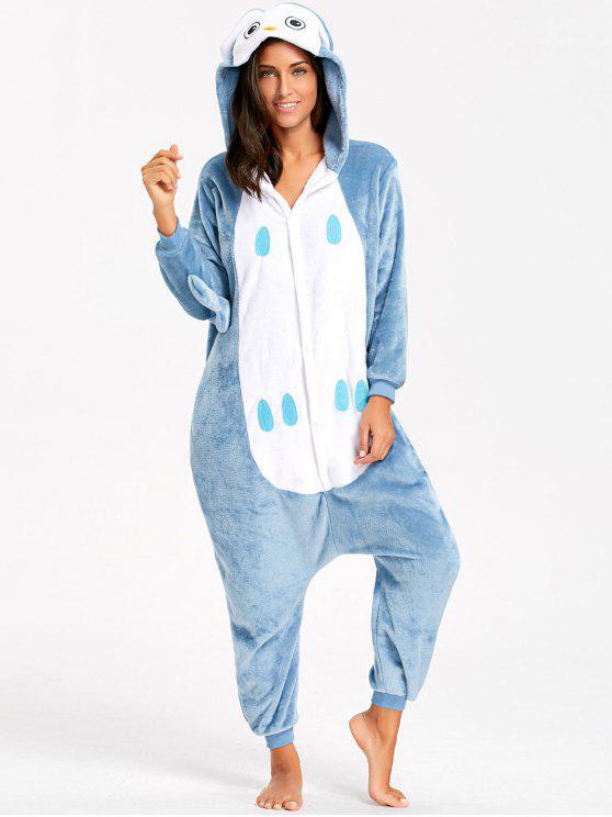 Pyjama Onesie Hibou Animal pour Adulte - Bleu-gris M