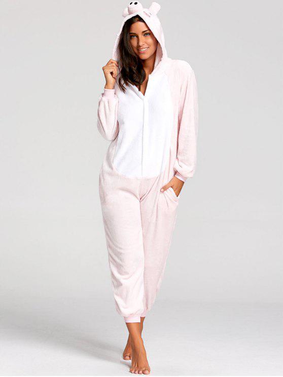 Pijamas de Animal de Cerdo Rosado - Rosa XL
