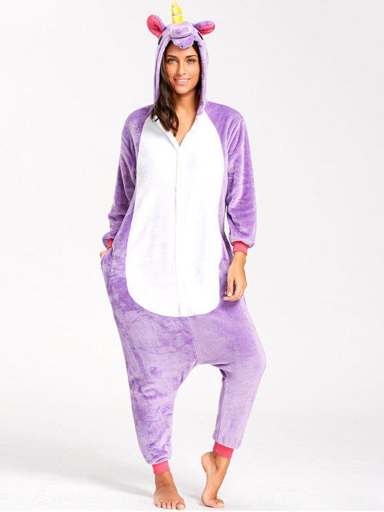 Animal Pegasus Onesie Pijama para adulto - Púrpura S