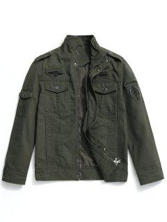 Patch Design Field Jacket - Army Green Xl