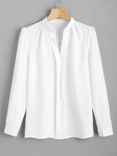 Fitting Long Sleeve Work Shirt - White M