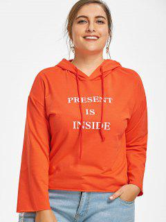 Pullover Letter Plus Size Hoodie - Jacinth 5xl