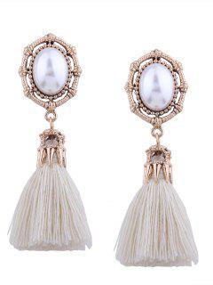 Boucles D'Oreilles Faux Perle Vintage Faux Perle - Blanc