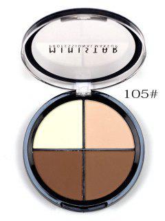 4 Couleurs Ensemble De Correcteurs Poudre De Maquillage  - Texture D