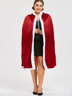 Plus Size Santa Claus Hooded Cape - Red 5xl