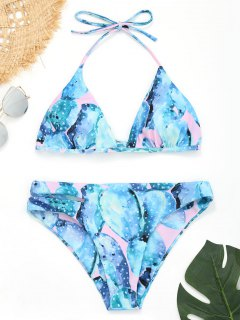 Cutout Halfter Kaktus Bikini - L