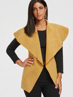 Tie Belt Waterfall Wasitcoat - Yolk Yellow S
