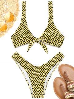 Bikini à Encolure Dégagée Et à Motif - Jaune S