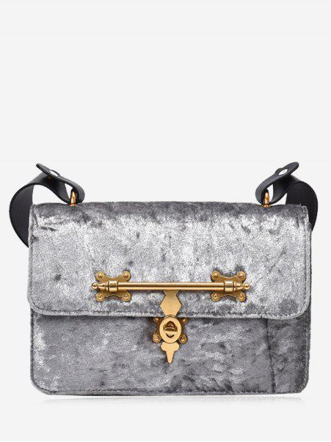 sale Metal Embellishment Crossbody Bag - SILVER  Mobile