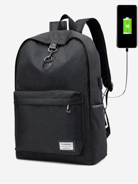 new USB Charging Port Metal Backpack -   Mobile