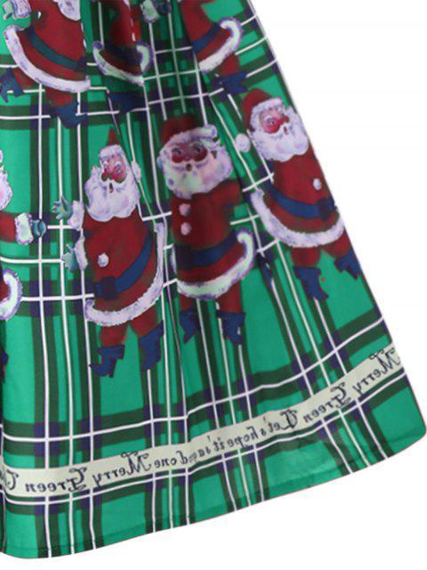 Vestido de Noche Santa Claus Sheer Swing - Verde 2XL Mobile