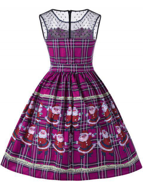 Vestido de Noche Santa Claus Sheer Swing - Púrpura 2XL Mobile