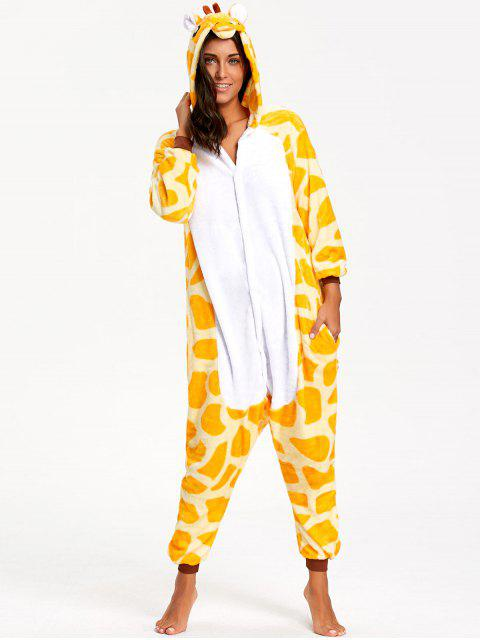 Pijamas Divertidos de Animal de Jirafa - Amarillo M Mobile