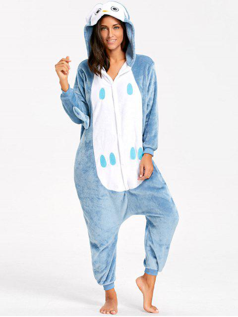 Pyjama Onesie Hibou Animal pour Adulte - Bleu-gris M Mobile