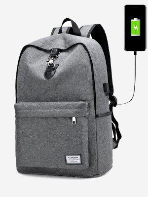 USB Charging Port Metal Backpack