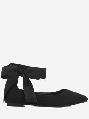 Bowknot Ribbon Point Toe Cheville Wrap Flats