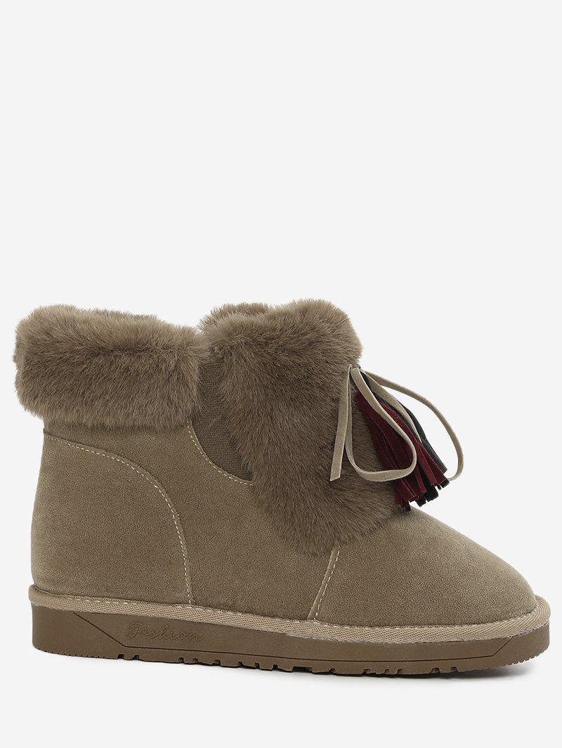 Bow Tassels Furry Snow Boots 231418614