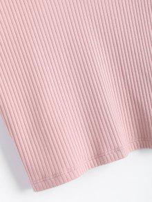 En De Con V Camiseta Cuello Sin Punto Rosado M Mangas YSqCwxx1T