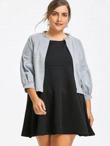Sleeveless Plus Size Dress with Crop Jacket