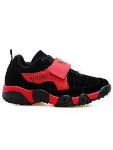 الرياضة أحذية عادية من جلد الغزال أحذية رياضية - أسود أحمر 41