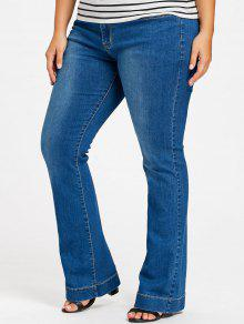 1e20708ef34 35% OFF  2019 Plus Size Flare Jeans In DENIM BLUE