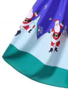 b3a08294af32f 34% OFF] 2019 Christmas Off The Shoulder Swing Dress In BLUE | ZAFUL