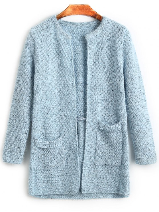Plain Open Cardigan With Pockets LIGHT BLUE: Sweaters ONE SIZE | ZAFUL