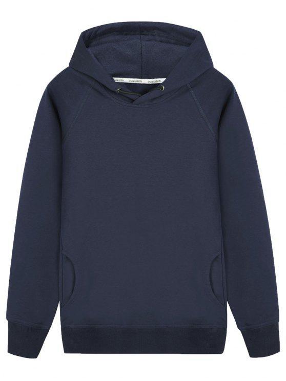 buy Pullover Raglan Sleeve Hoodie - CADETBLUE 2XL