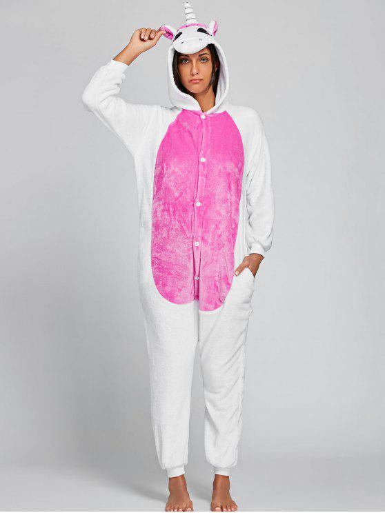 Cute Unicorn Animal Onesie Pijama - Rosado XL