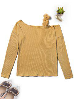 Off The Shoulder Ribbed Knitwear - Ginger Xl
