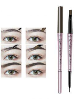 Long Lasting Waterproof Double Headed Eyebrown Pencil - Black