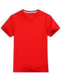 T-shirt à Manches Courtes  - Rouge L
