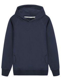 Pullover Raglan Sleeve Hoodie - Cadetblue 2xl